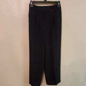 💌TALBOTS SIZE 8 BLACK DRESS PANTS WIDE LEG NWOT